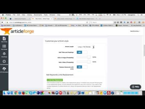 Article Forge Tutorial - Online SEO Article Builder Tips
