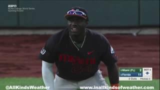 2015 College World Series Opening Round: #4 Florida Gators vs. #5 Miami Hurricanes
