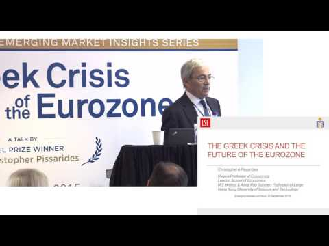The Greek Crisis and the Future of the Eurozone by Sir Christopher Pissarides
