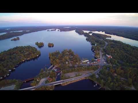 Aerial View Lake Muskoka, Bala Ontario, July 30 2017