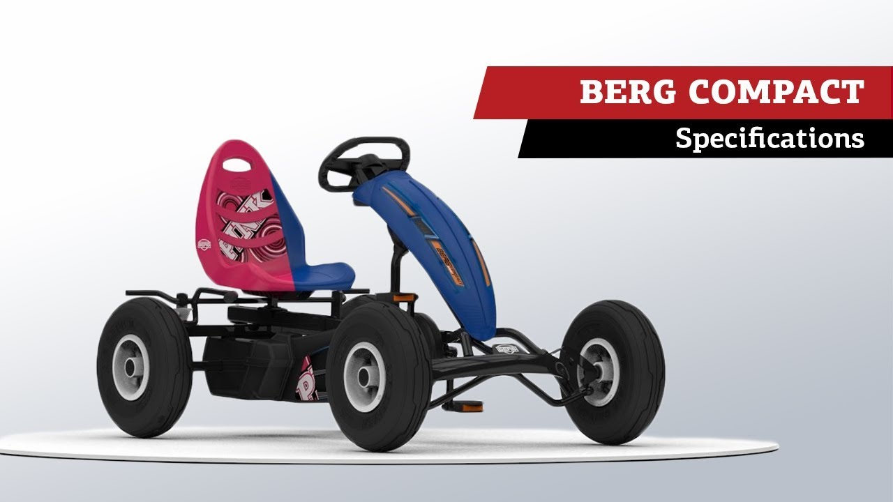 BERG Compact Sport & BERG Pink pedal go-karts | specifications - YouTube