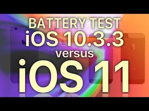 iOS 11 Final Battery Life : Should you worry? iOS 10.3.3 vs iOS 11 Battery Life Test