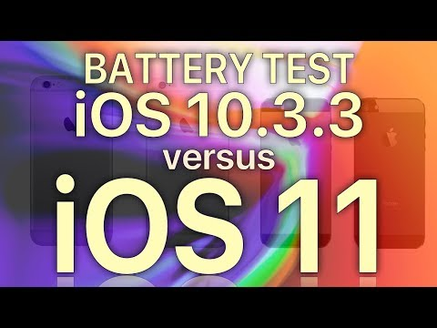 iOS 11 Battery Life : Should you worry? iOS 10.3.3 vs iOS 11 Battery Life Test
