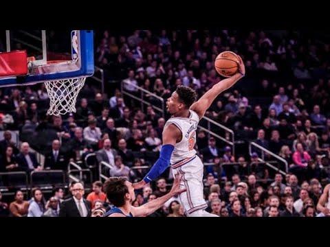 Dennis Smith Jr Destroys The Rim With Monster Dunk Knicks Vs