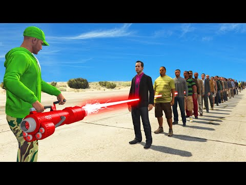 NEW $1,450,000 LASER CANNON TEST! (1 Laser vs. 100 People)