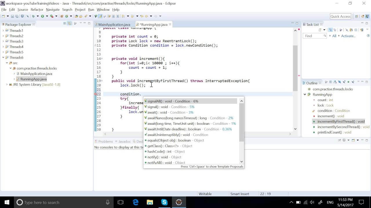 Java Lock vs Reentrant Lock example | Java Multithreading