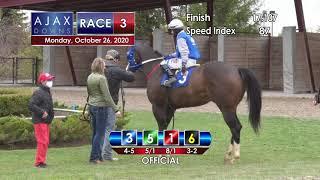 Ajax Downs October 26th, 2020 Race 3