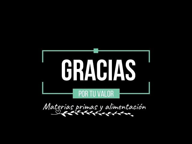 #GraciasXTuValor, productores/as de materias primas y alimentación, abastecimiento de energía y agua
