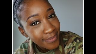 From BASIC to Professional |MY Military Makeup +Military Hair Tutorial