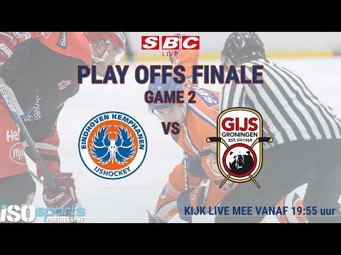 Live IJshockey Eindhoven Kemphanen vs. GIJS Groningen 23 maart 2019 19:55 uur