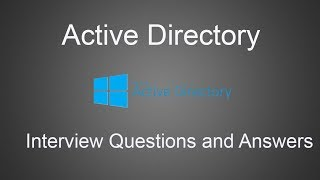Top 20 Active Directory Interview Questions and Answers