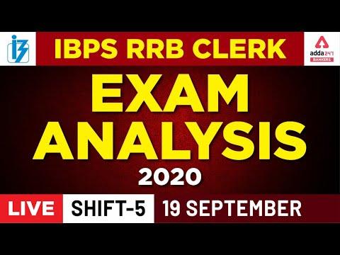 IBPS RRB Clerk Prelims Exam Analysis 2020 (Shift 5, September 19) — Adda247