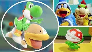 Baby Bowser won't let Yoshi leave this place in Yoshi's Crafted World | 100% Demo Walkthrough