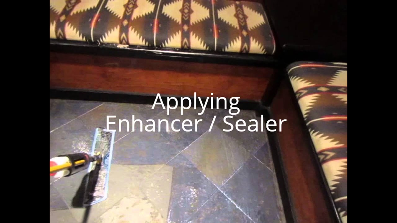 How to clean and seal slate flooring youtube how to clean and seal slate flooring doublecrazyfo Choice Image