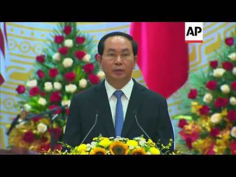 Obama, Vietnamese presidents at state luncheon
