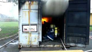 Fire Gas Ignition on Croatian Flashover Training .MOV