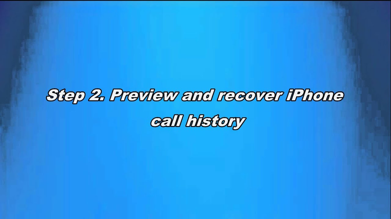iphone call history how to recover call history on iphone 3372