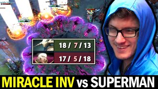 MIRACLE Invoker Try Hard Intense Game vs SUPERMAN Build Sven