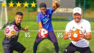 F2FREESTYLERS vs OVERPOWERED FOOTBALL.. Shoot Like RONALDO, MESSI & POGBA!!