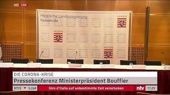 Live: Statement des hessischen Ministerpräsidenten Bouffier zur Corona-Krise