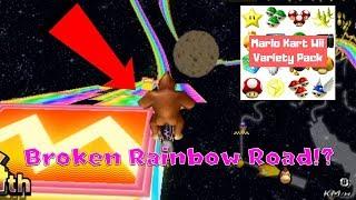 MKWii Frantic Mode - BROKEN RAINBOW ROAD!? (Variety Pack)