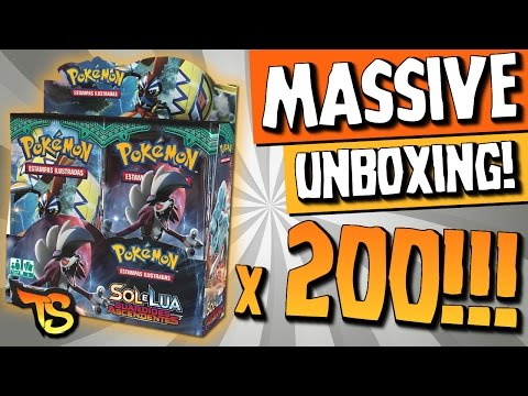 Massive Unboxing! 200 Booster Box SM2 Guardiões Ascendentes!