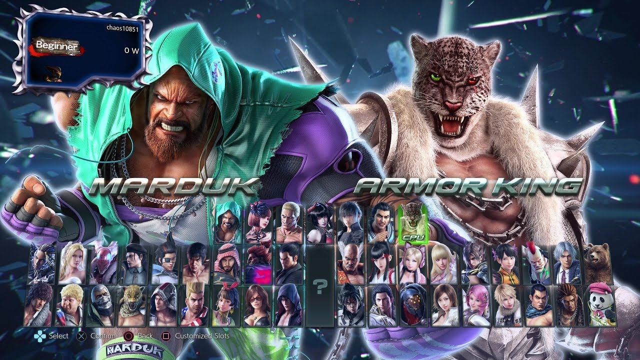 CHAOS PRODUCTIONS INC - Tekken 7 S2 - Character Select Screen Update (New Music)