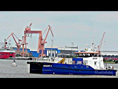 offshore work ship SEAZIP 2 PBQR IMO 9654842 Emden crew boat