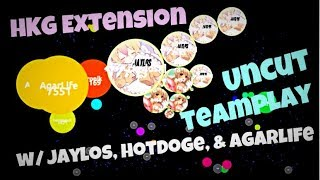 Agar.io - HKG Extension | Uncut Teamplay w/ Jaylos, Hotdoge, & AgarLife