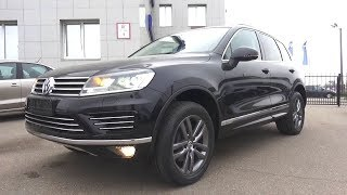 2017 Volkswagen Touareg 3.0 TDI R-line. Start Up, Engine, and In Depth Tour.