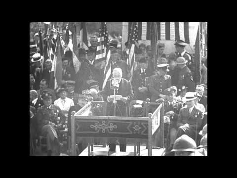 Cantigny American Monument Dedication in 1937