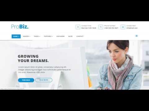 Joomla шаблон ProBiz 2.2 многоцелевая бизнес-тема. Знакомство и скачать бесплатно