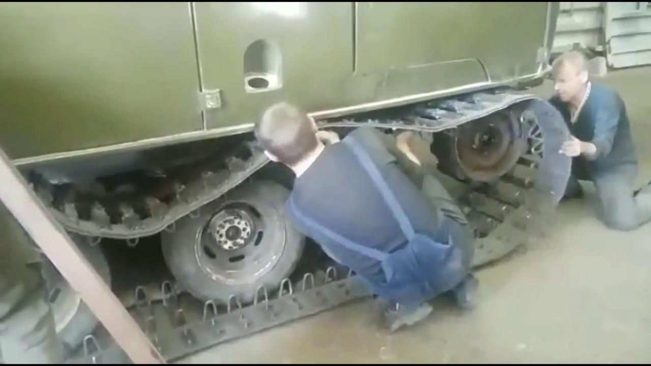 Гусеницы на УАЗ вездеход ТСН 74
