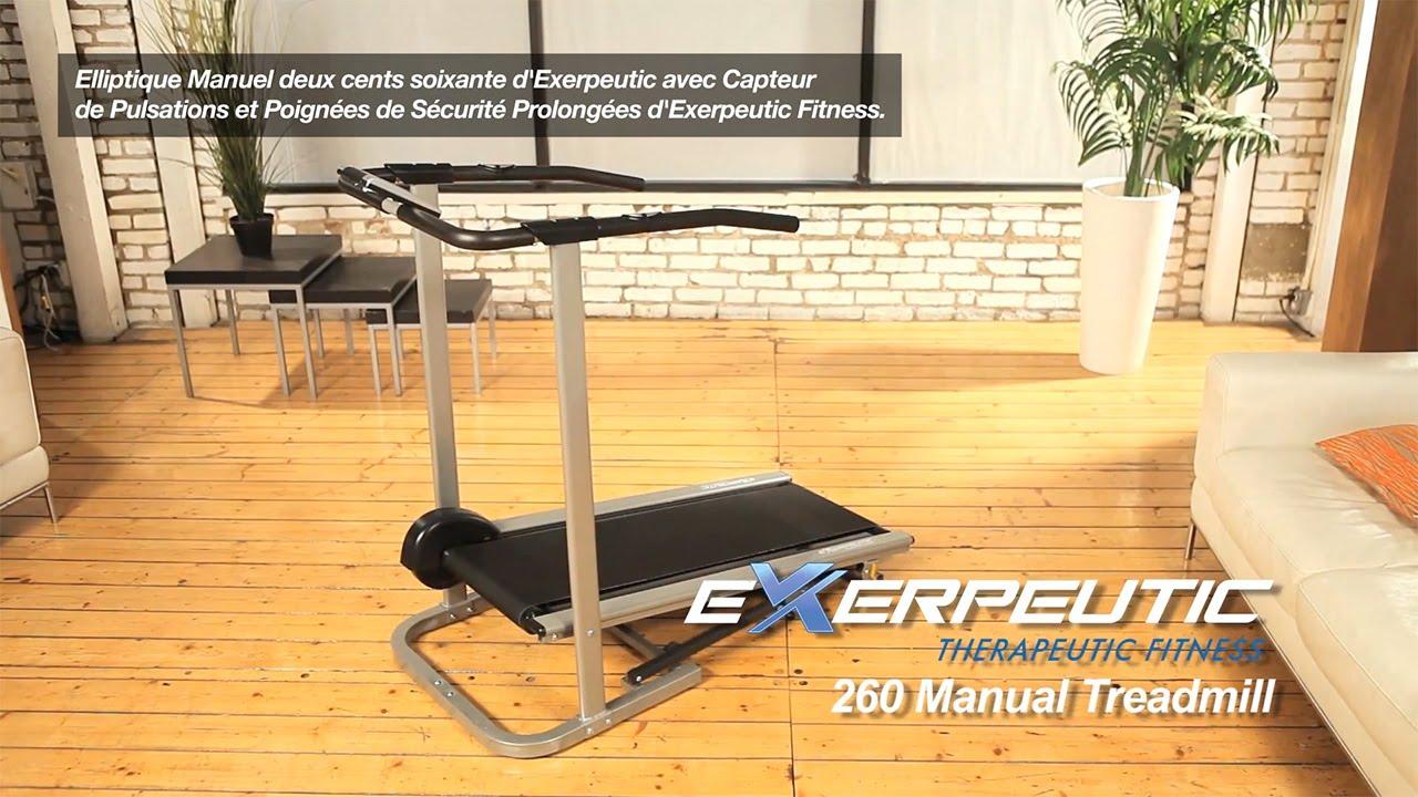 1005 le tapis de course manuel 260 d 39 exerpeutic youtube. Black Bedroom Furniture Sets. Home Design Ideas