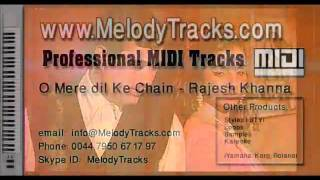 O Mere dil Ke Chain MIDI - www.MelodyTracks.com