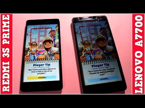 Xiaomi Redmi 3s Prime Vs Lenovo A7700 Speedtest
