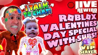 VALENTINES DAY SPECIAL ❤️ Mad City & More | Road to 4000 Subs ► Roblox Comedy PRO PC 🔴 Live Rewind