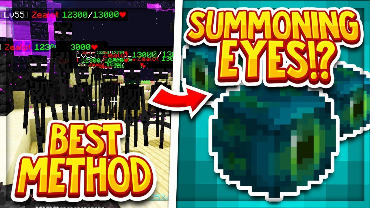 Hypixel Skyblock: FASTEST WAY TO GET SUMMONING EYES! NO GOOD ARMOR