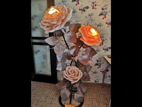 МК РОЗА ИЗ ИЗОЛОНА-Формирование листьев для розы