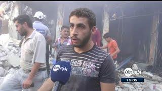 مجزرة السوق الشعبي في ادلب على ابواب عيد الأضحى المبارك
