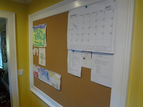 DIY How to Make a Colonial Cork Bulletin Board by Yourself