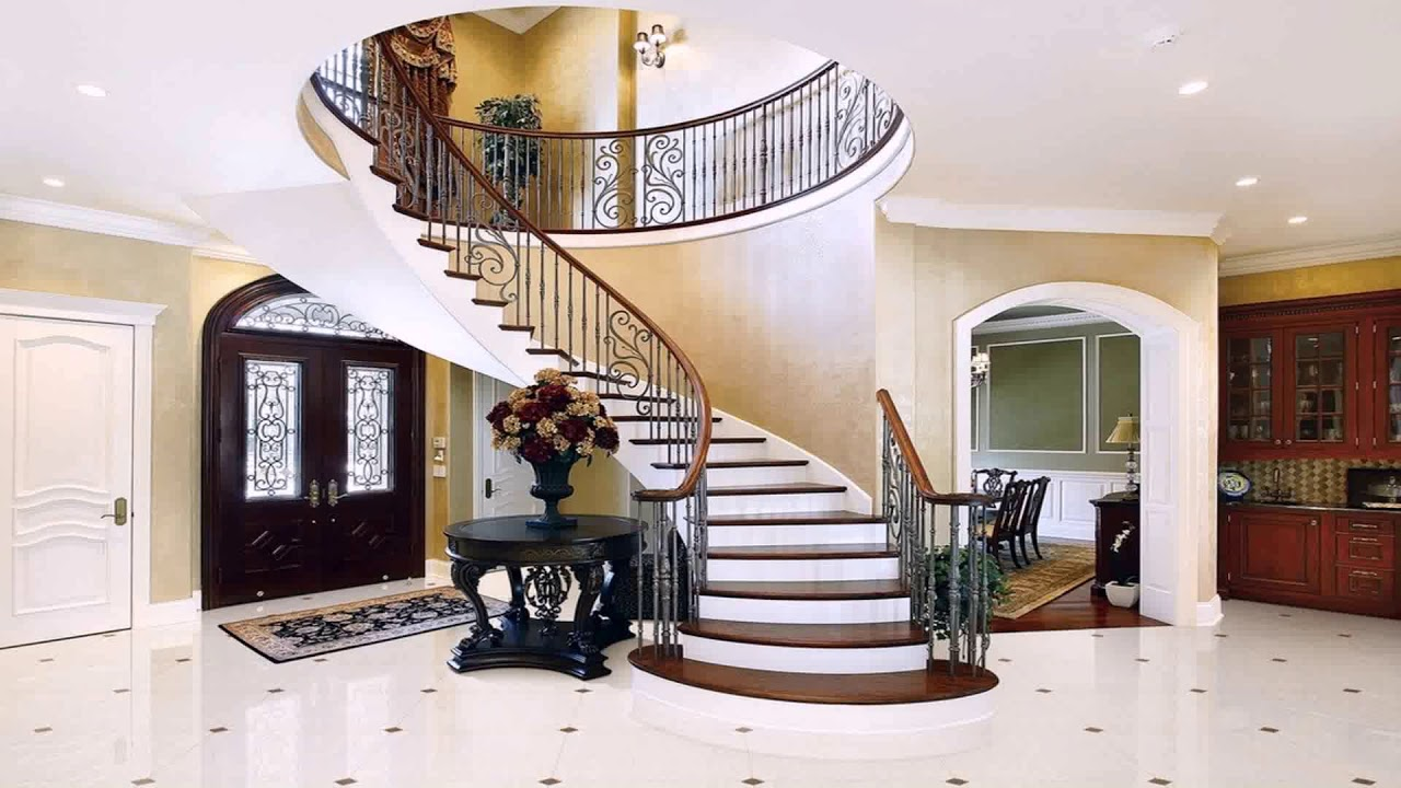 interior staircase design in main hall for duplex house youtube. Black Bedroom Furniture Sets. Home Design Ideas