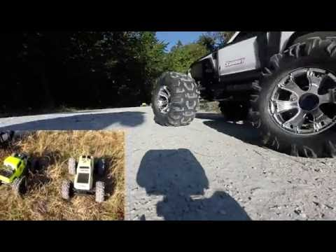 Arrma Nero BLX, Traxxas Summit, Crawling In The forest trail (Fontainebleau FRANCE), Scale 1:8