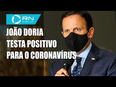 João Doria é diagnosticado com coronavírus