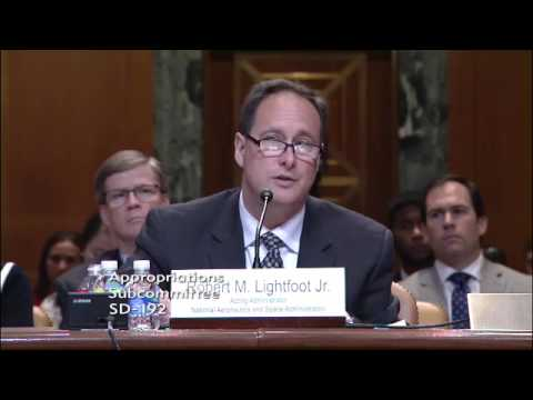 NASA FY18 Budget Request Review, Senate Appropriations Subcommittee, June 29, 2017