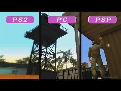 GTA VICE CITY STORIES Graphics Comparison - PS2 / PSP / PC
