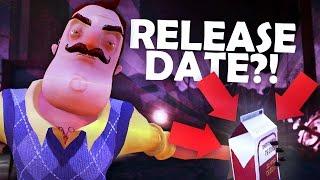 HELLO NEIGHBOR ALPHA 4 RELEASE DATE!!?! (Hello Neighbor Secrets! / Hello Neighbor Alpha 4 Gameplay)