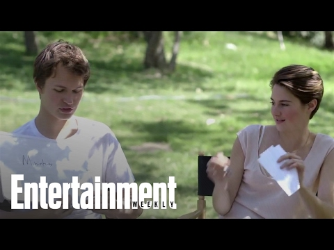 The Fault In Our Stars': Shailene Woodley & Ansel Elgort Quiz Eachother | Entertainment Weekly