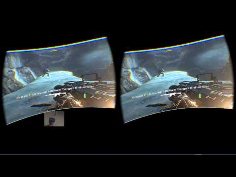 Call of Duty Advanced Warfare 7K Res Oculus Rift DK2 Dual head tracking SP: Crash