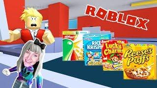 Roblox: SUPERMARKT ENTKOMMEN - Nina flieht vor Cornflakes & Milch - Escape the Supermarket Obby